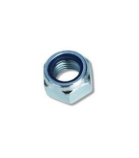 Zinc plated nylon insert bolt nut Ø8 mm (0,31 in)