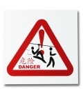 "Pvc zip line ""danger"" panel"