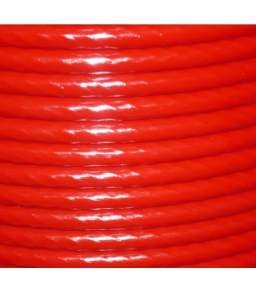 plastic coated wire rope Ø12mm coated, Ø10mm no coating 200m reel red