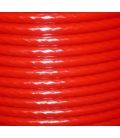 PLASTIC COATED WIRE ROPE Ø12mm coated, Ø10mm without coating 200m reel Red