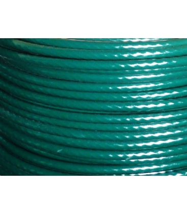 PLASTIC COATED WIRE ROPE Ø12mm coated, Ø10mm without coating Made to measure Green