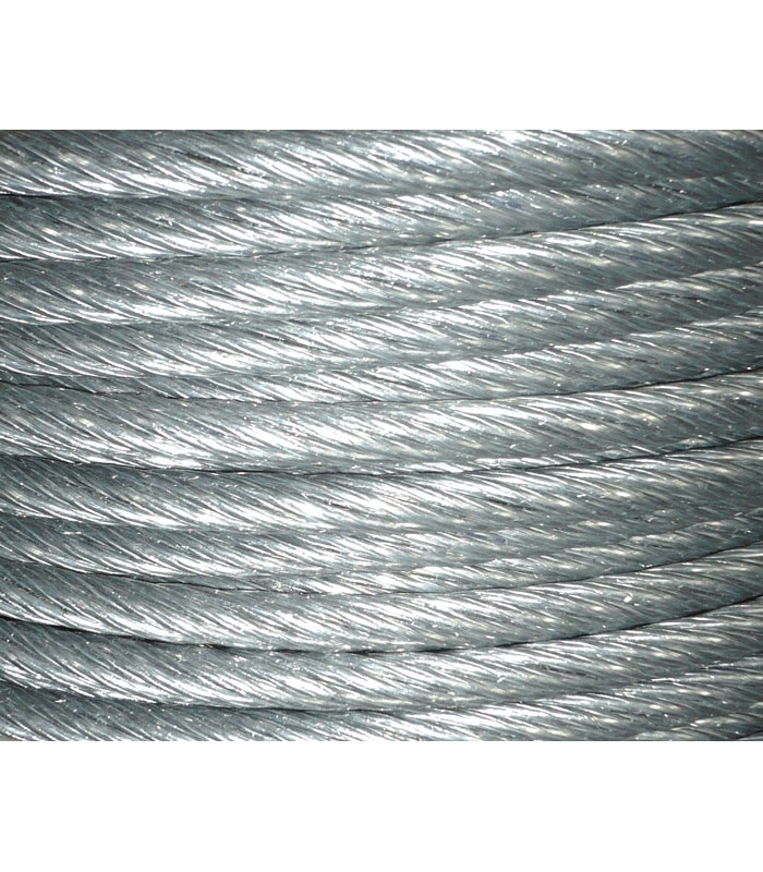 Ø12mm lang\'s lay galvanized wire rope 6x7 FC made to measure