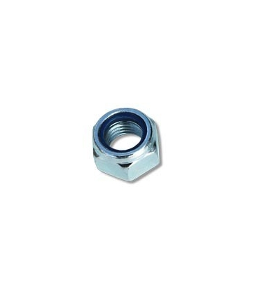 Zinc plated nylon insert bolt nut Ø6 mm (0,24 in)