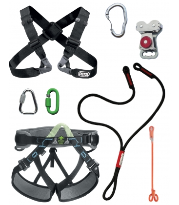 Chest Y PPE kit for large person - Continuous belay