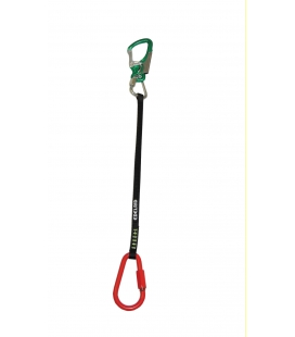 Tarzan lanyard with connectors red & green. Length: 72 cm ( 2,36 ft)