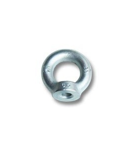 Ø10 mm (0,39 in) zinc plated eye nut