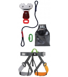 Gym I adult and youth PPE kit - Continuous belay system- Pouliz 3.0