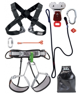 Chest Y PPE kit for large person - Continuous belay - Pouliz 3.0
